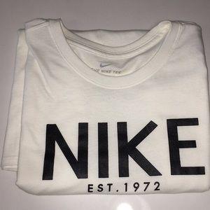 Nike est. 1972 White/ Cream Colored Tshirt